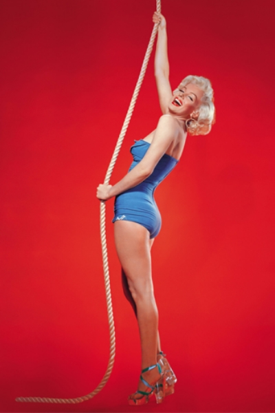 Marilyn Monroe rocking her favorite pair of lucite heels, via  Refinery 29 .
