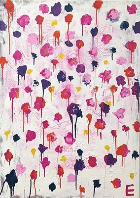 Elaina Sullivan,  Wildflower  , 2015, Acrylic on Canvas, 42x30 inches - via Voltzclarke