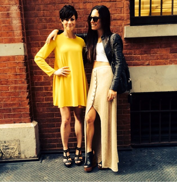 Chicest Momtrepreneurs Ever. OneClique Founder + President Sandy with Co-Founder + Creative Director Stefani.