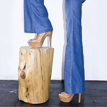 Great Huffington Post article  here .Decorating side note: love this little accent table! Similar  here . Also love the flared jeans + platforms. I'm really into this trend coming back. Who's with me?