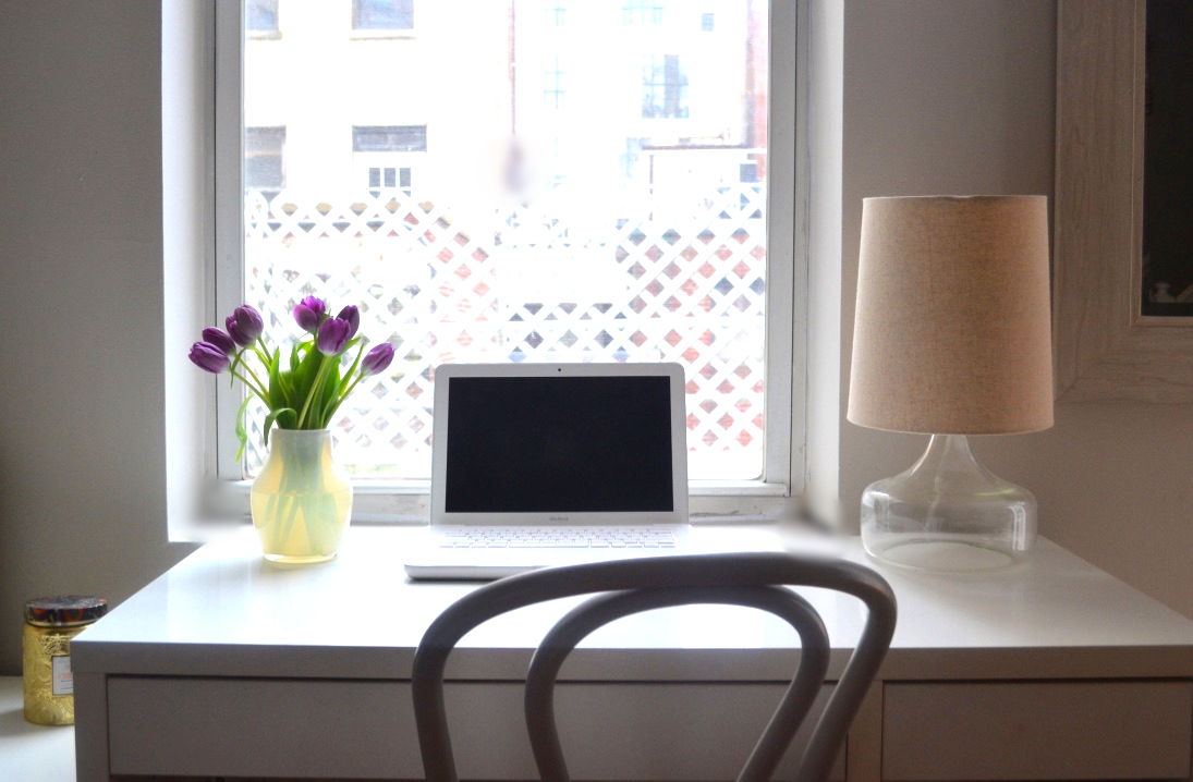 Whenever possible, a desk by the window is always the way to go!