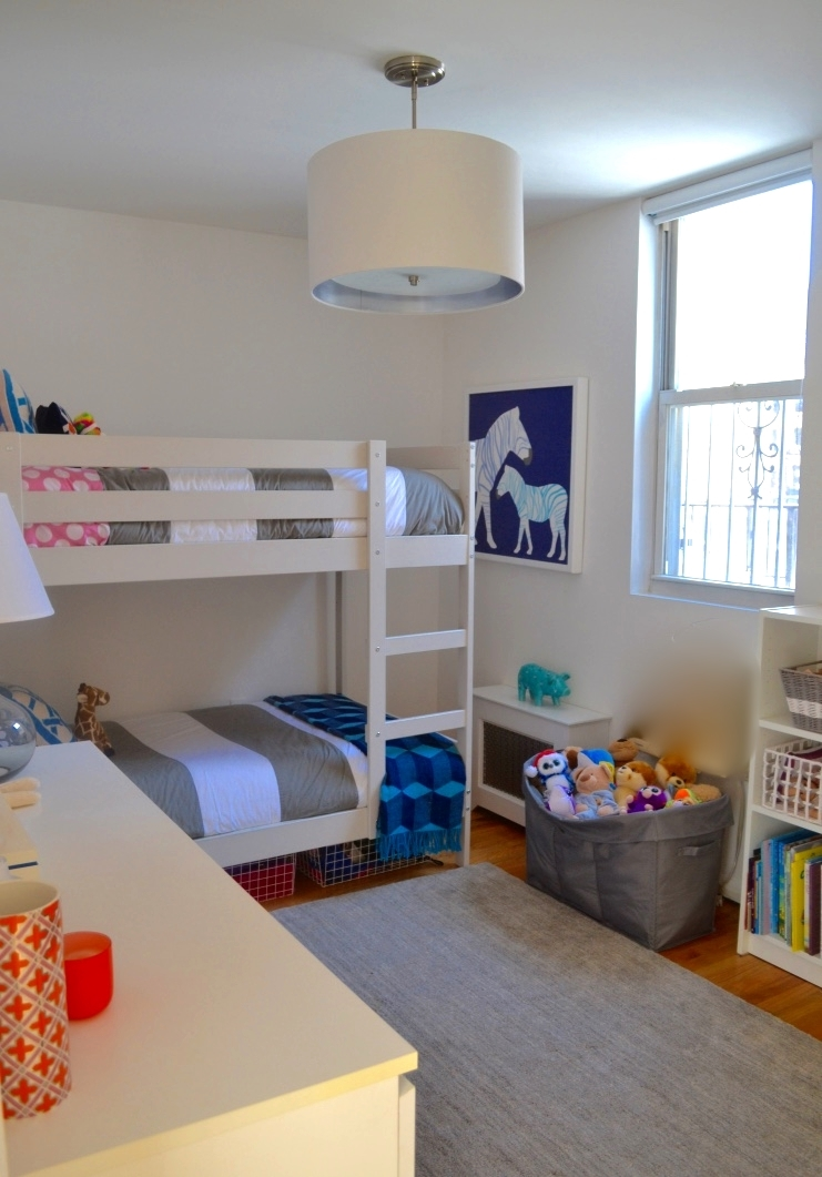 The kids wanted to share a room (how cute is that?) and use the third bedroom as a playroom instead.