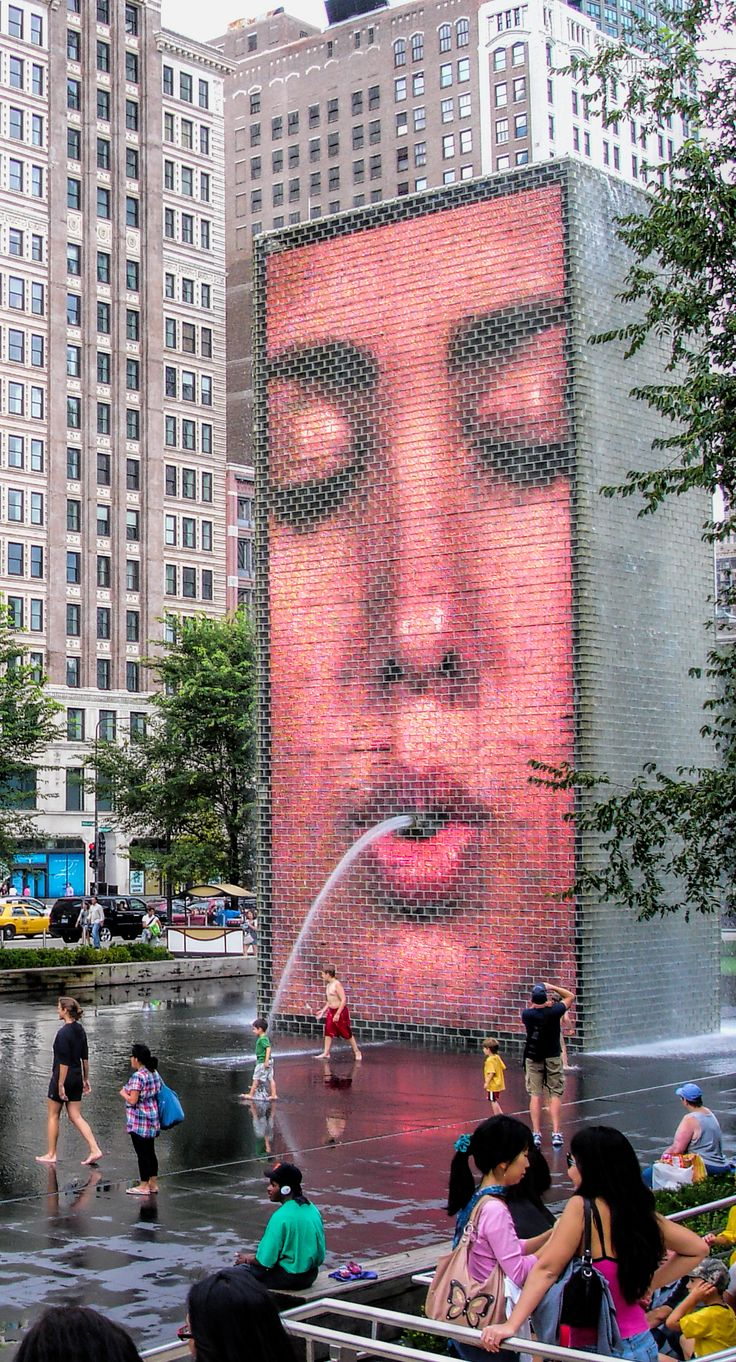 :: the crown fountain and millennium park ::