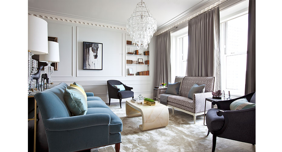 :: this glorious living room by summer thornton design, in the famed palmolive building ::