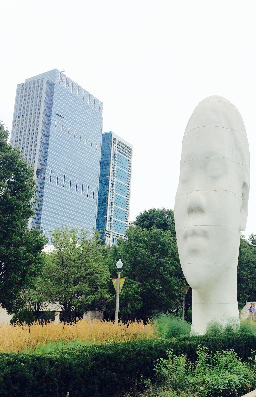 :: funky sculpture & landscaping among modern architecture @ millennium park ::
