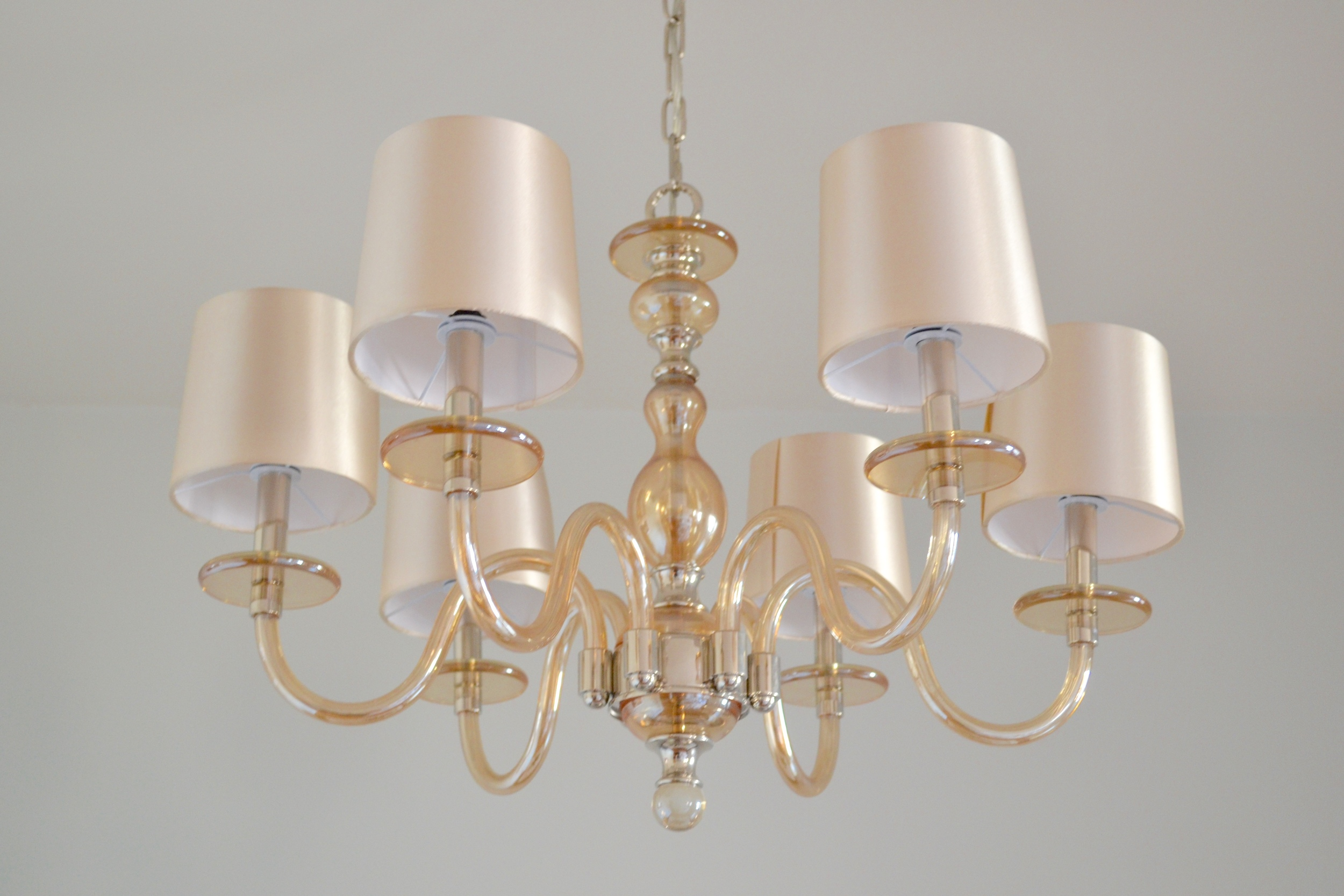 The chandelier (swoon!) was a One Kings Lane find.