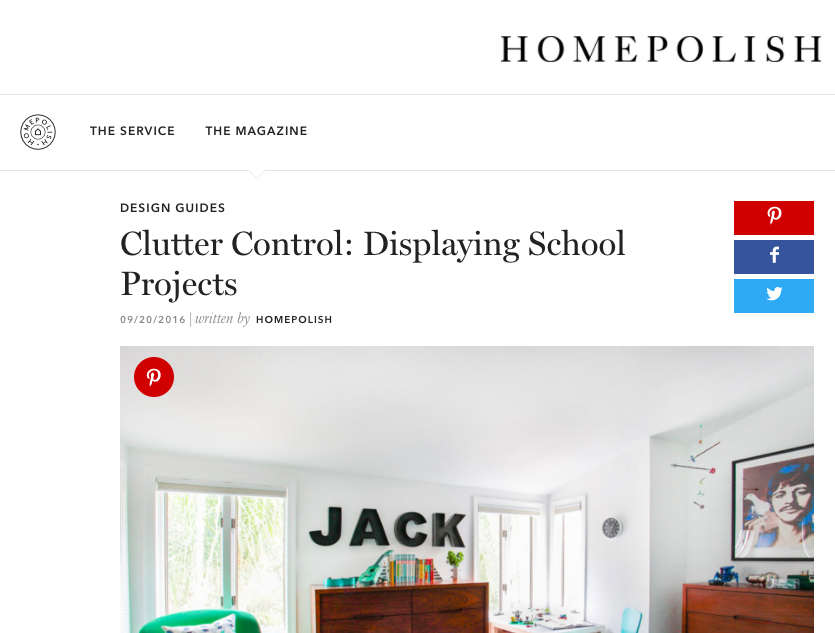 Homepolish - Clutter Control