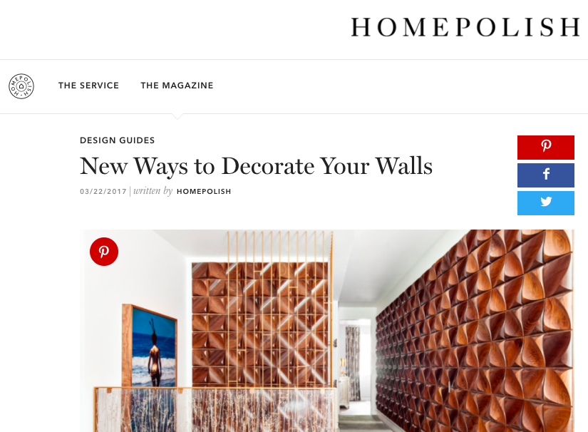 Homepolish - New Ways to Decorate Your Walls