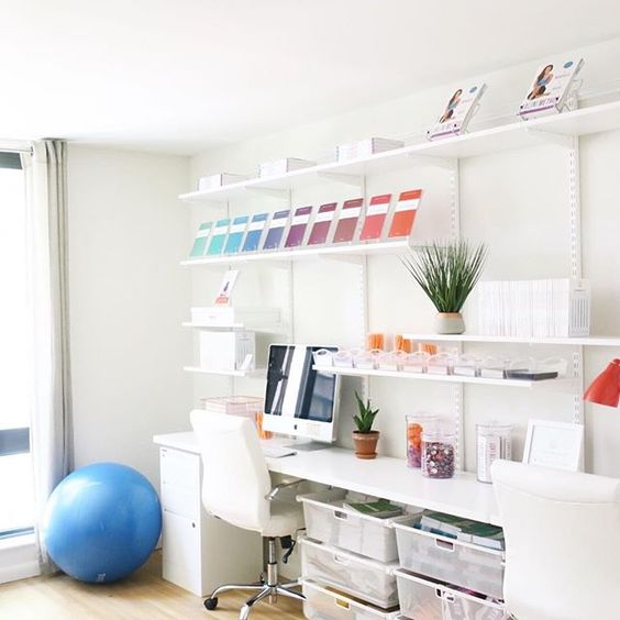Home Office styled + organized by  Shelfie NYC
