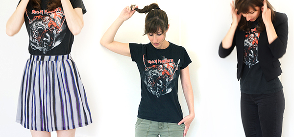 (one concert tee, three outfits)