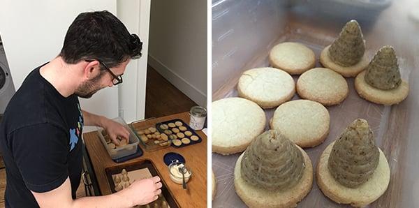 (Making Greg's Grandmother's Slovakian Beehive Cookies!)