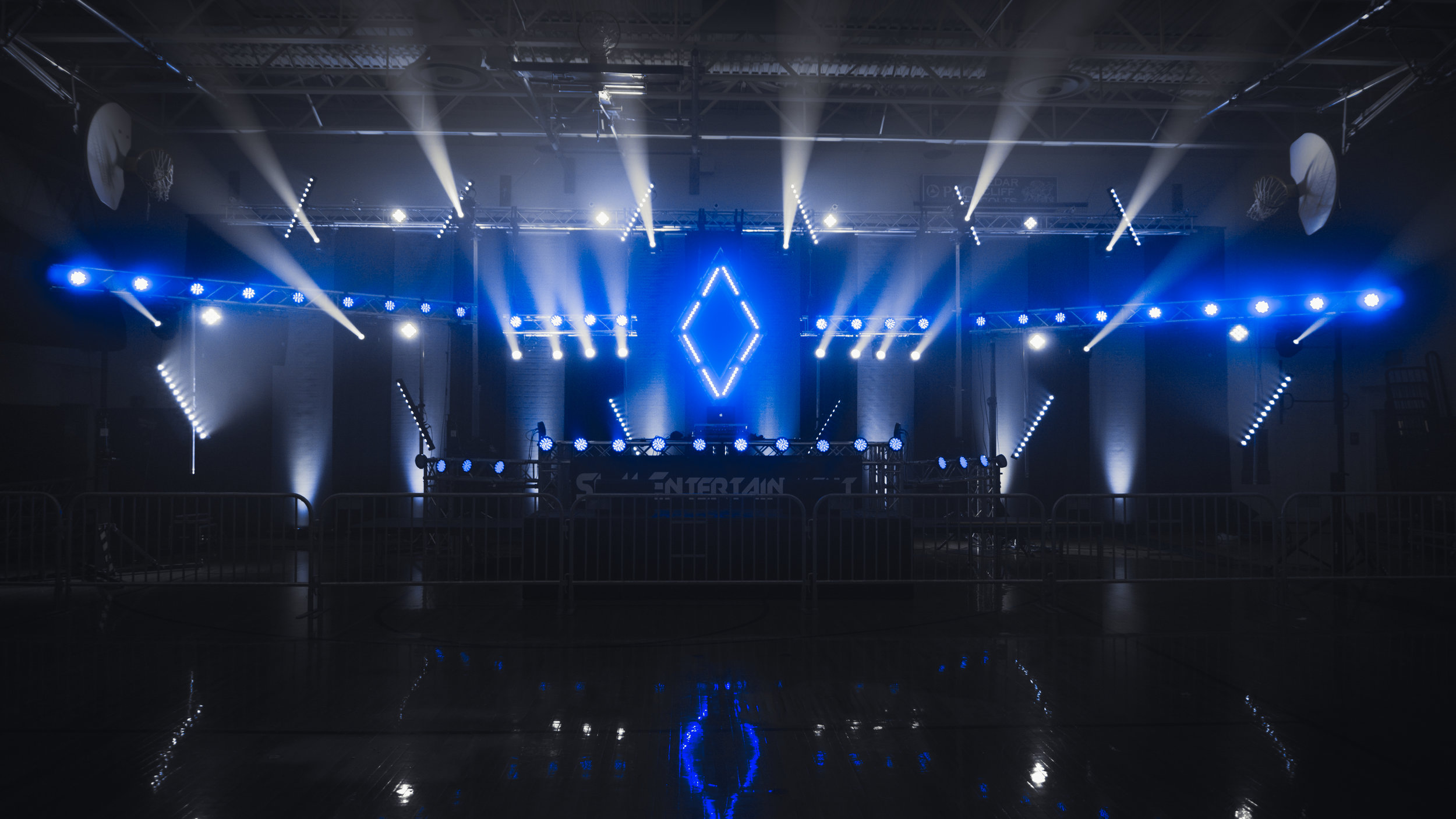 Concert Lighting - Concert-grade light shows Designed, programmed, & operated live to match the music perfectly(Avolites, Chauvet, Global Truss, Wenger)