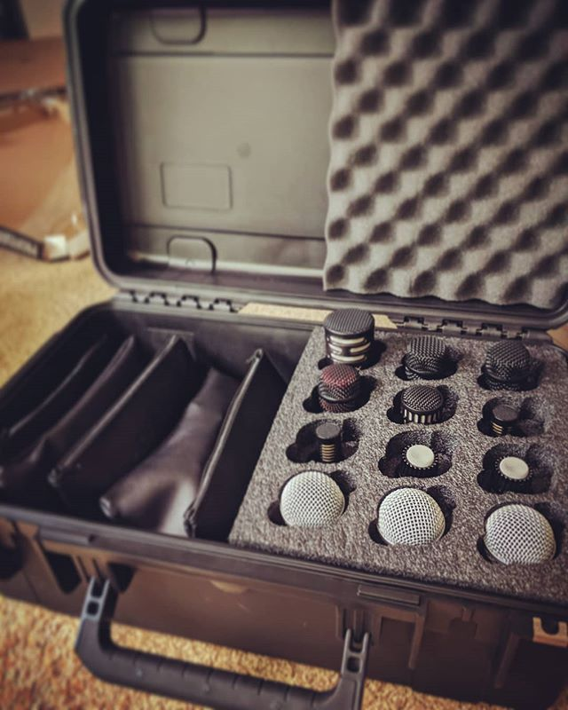 New @skbcases with new @shure and @audixmics goodies! 🎤