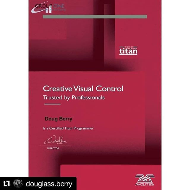 #Repost @douglass.berry ・・・ Excellent milestone for my passion and career! #avolites