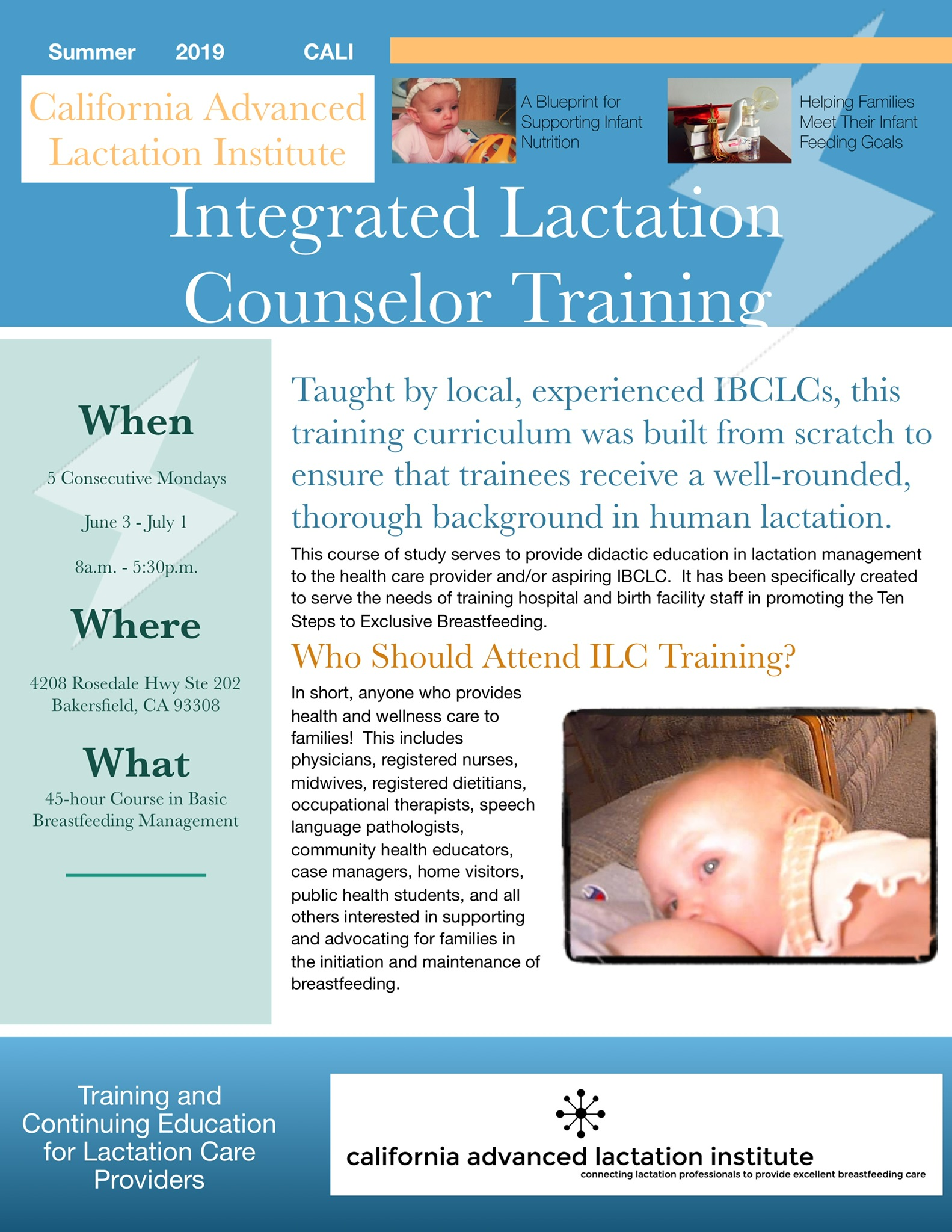 Integrated Lactation Counselor Training — california