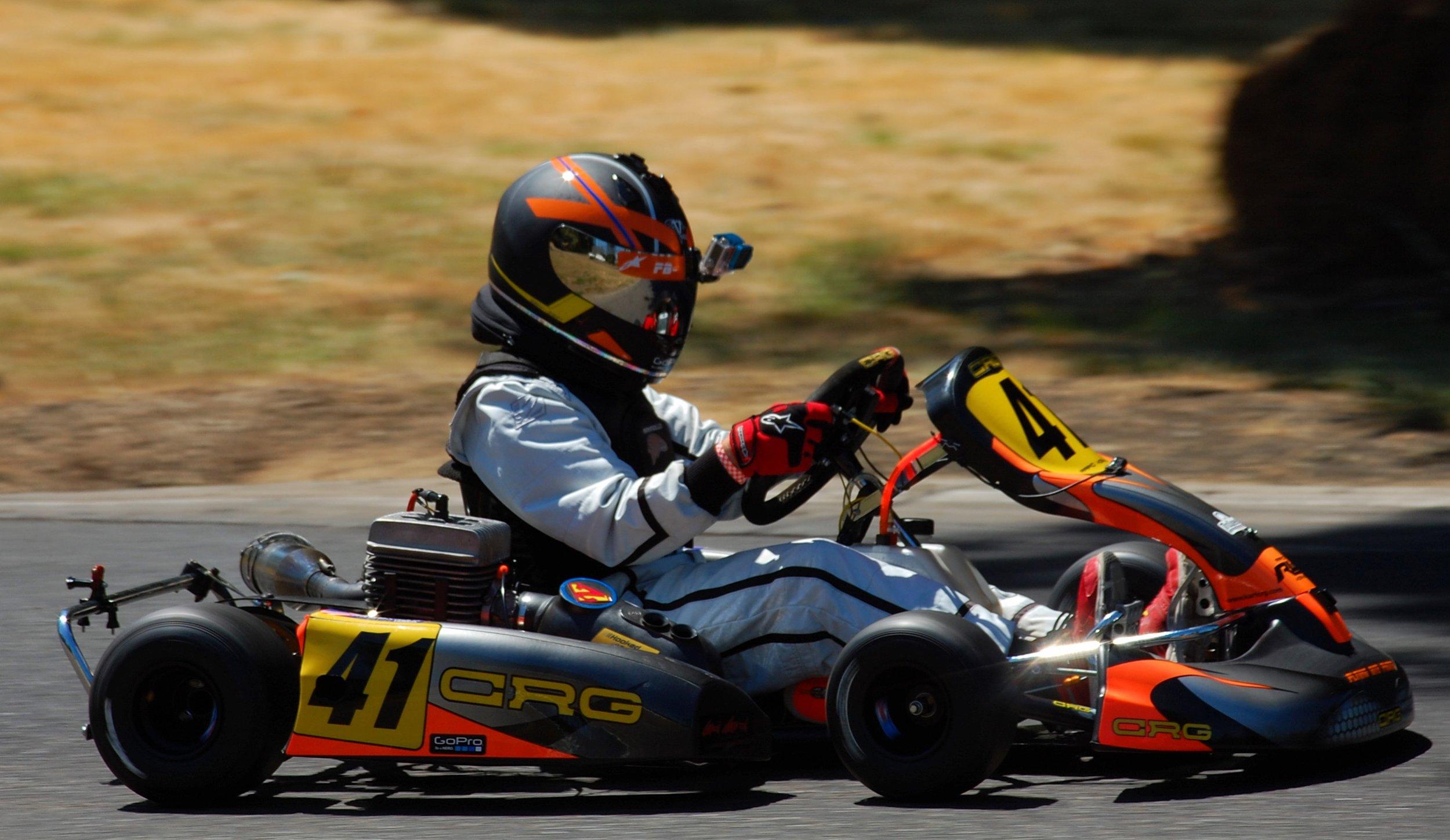 My 2006 CRG Heron+ race kart.