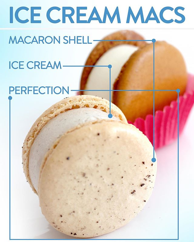 Have you tried our ice cream filled macarons? They're a cool treat! 🥰Available in store for $4, or two for $7!