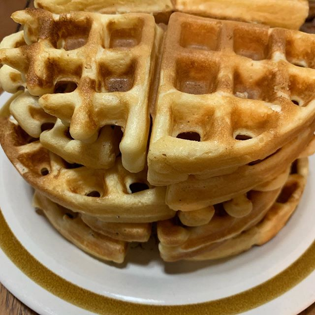 #breakfast  for #dinner #waffles #newmusic #composer #composerfood