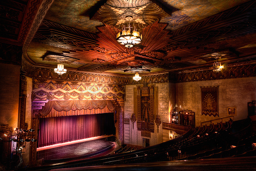 Warner Grand Theatre  478 W. 6th St., San Pedro, CA 90731 Street parking meters and city lots are available around the venue for free after 6:00pm.  Click here for parking map.