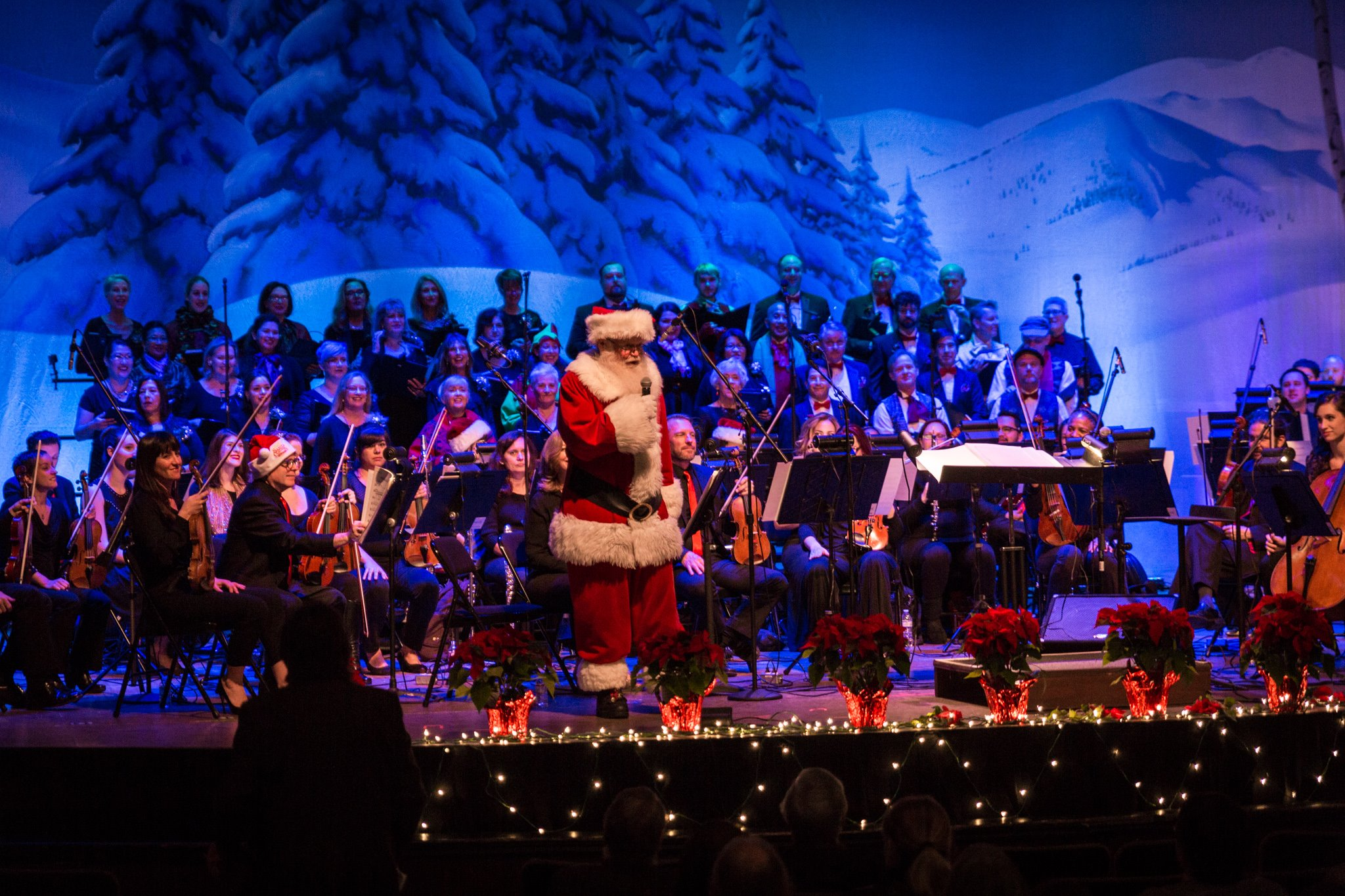 Santa Claus with the GSPO and GSPO Chorale