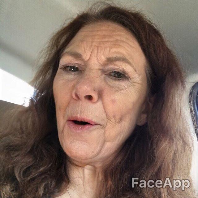 Ouuuu girllllll. Mama aging good. Awww!! I'm a cute old lady. #stillgotit #faceapp