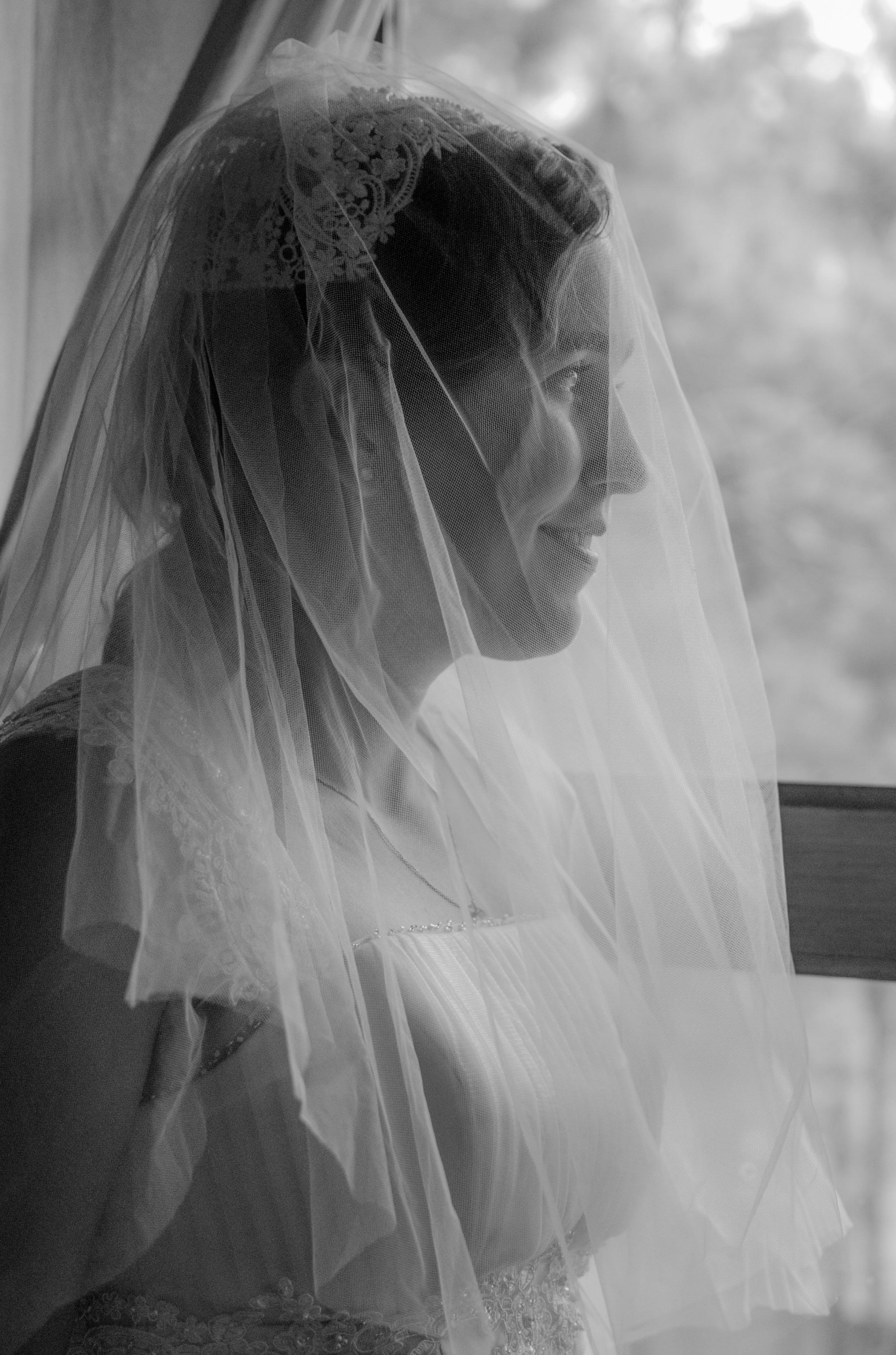 bride before ceremony