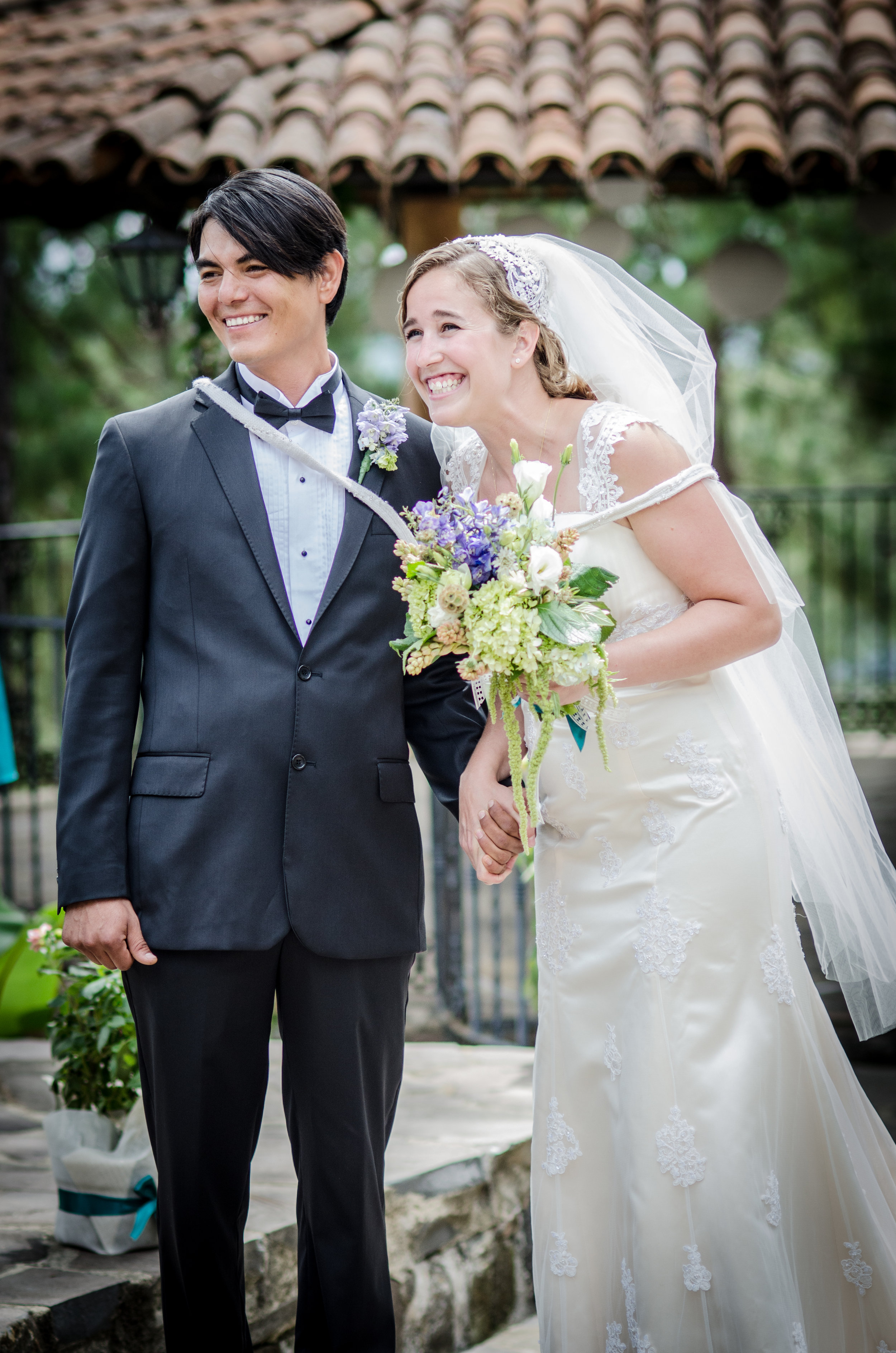 bride super happy