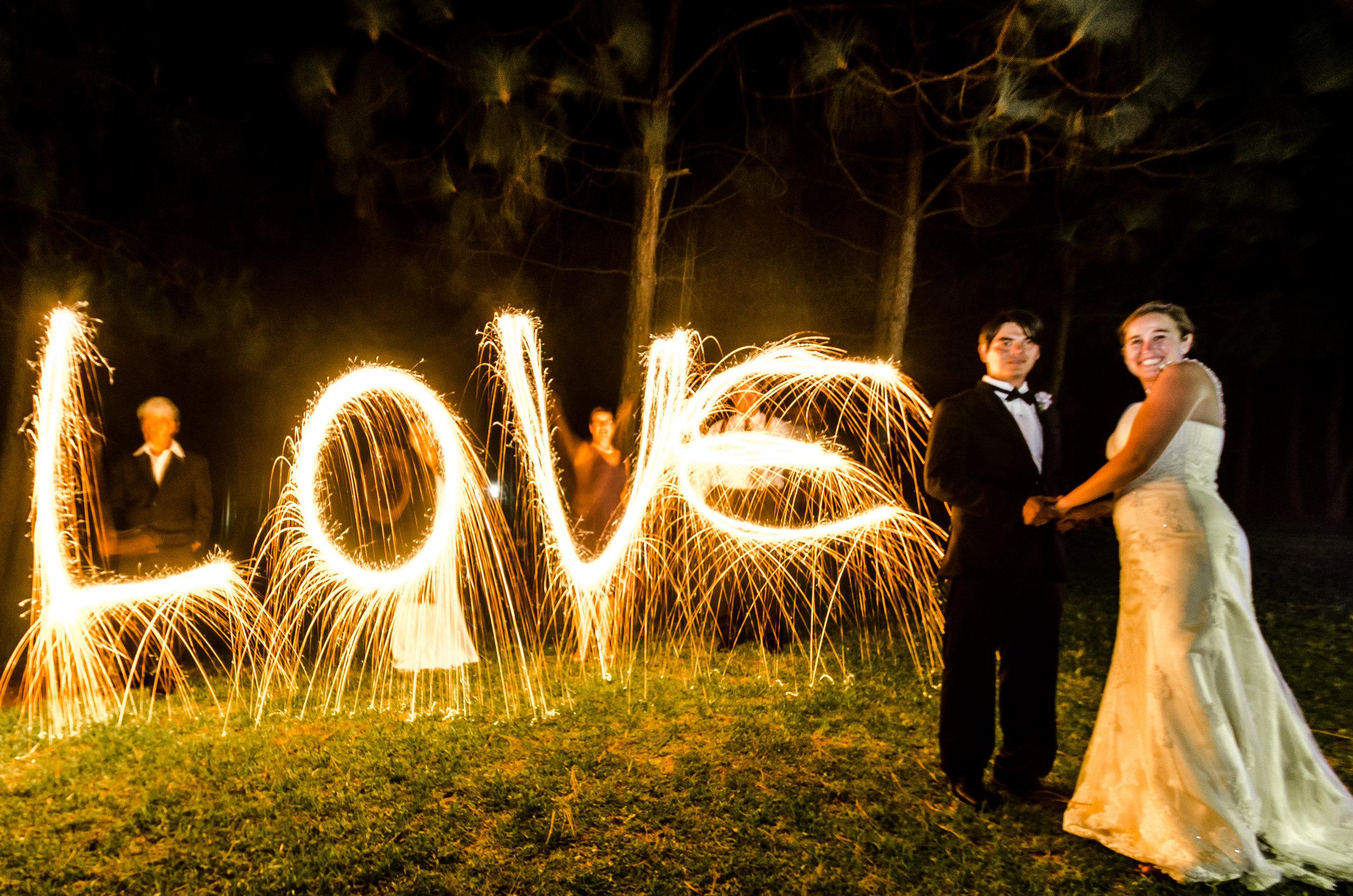 LOVE sparkles shot