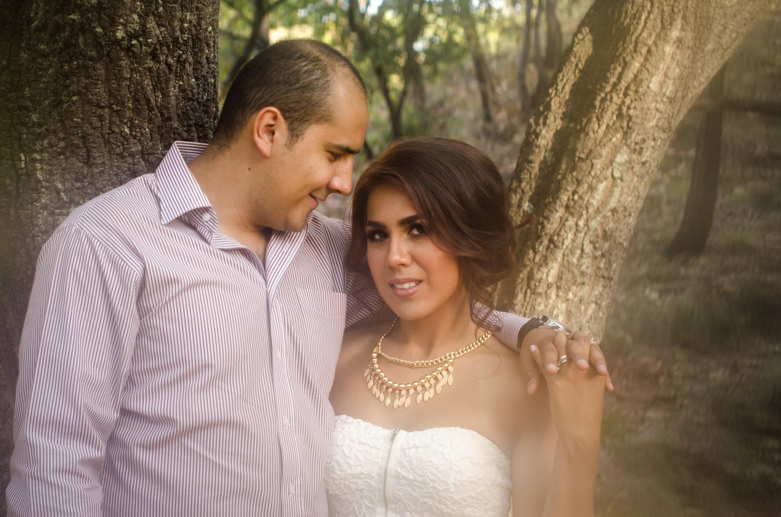amazing couple's portrait on the woods