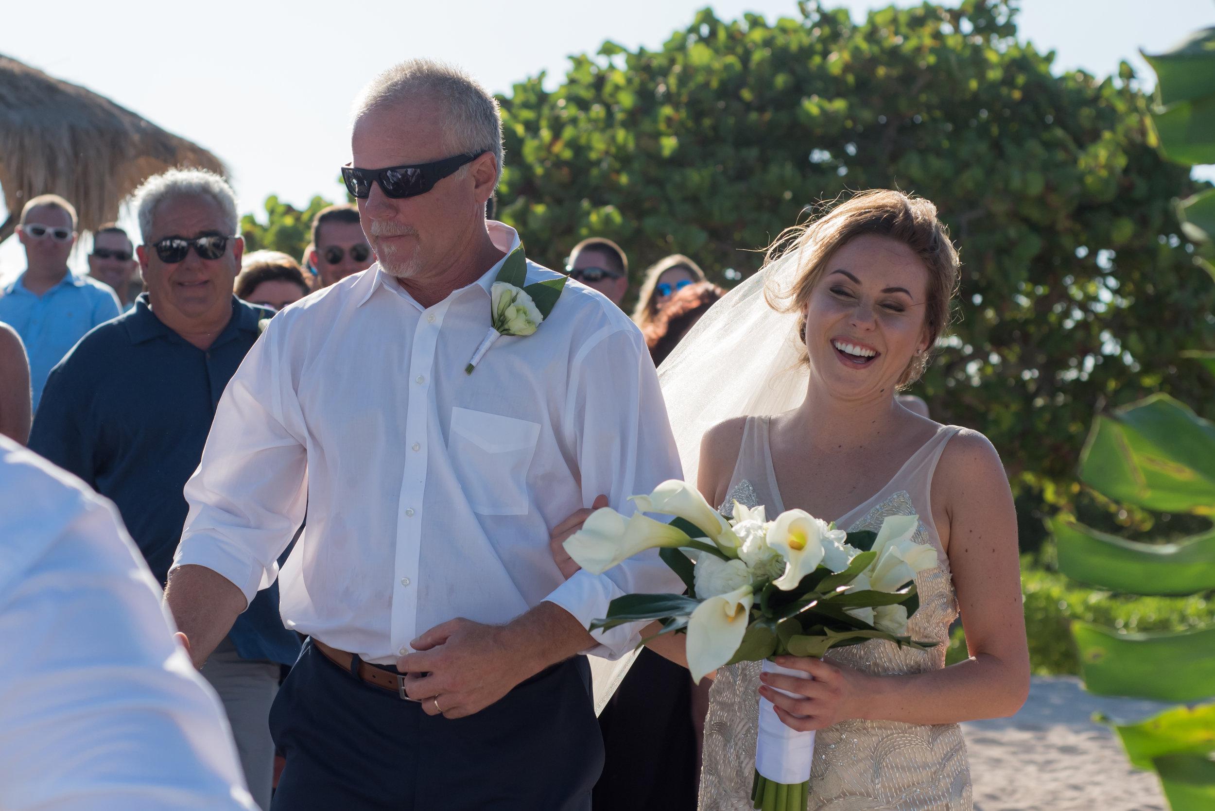 Bride & Dad Walking the aisle
