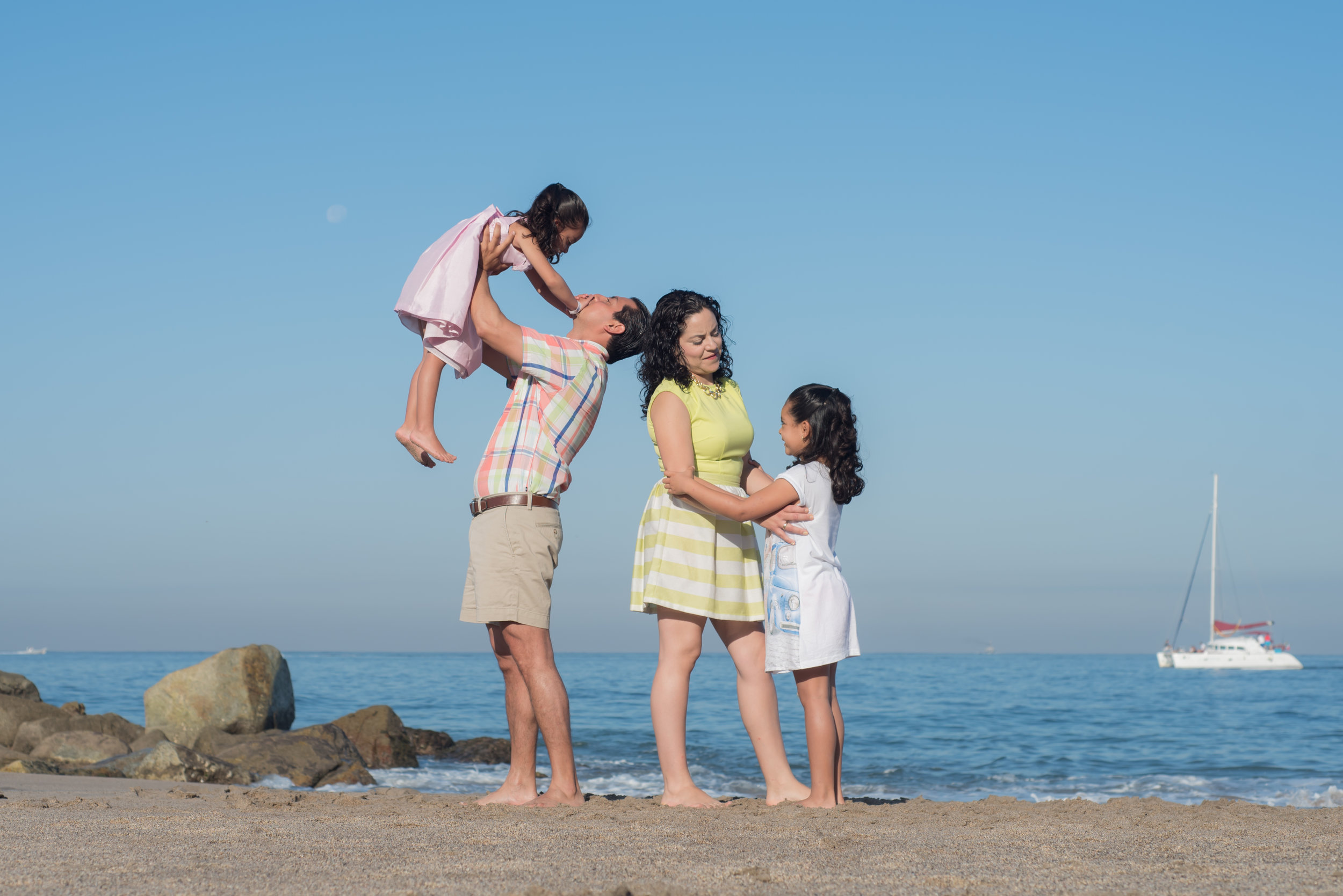 family time on the shore