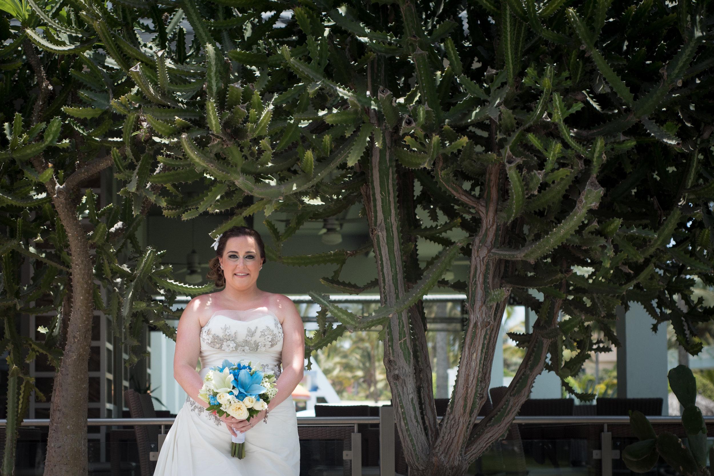 bride & cactus