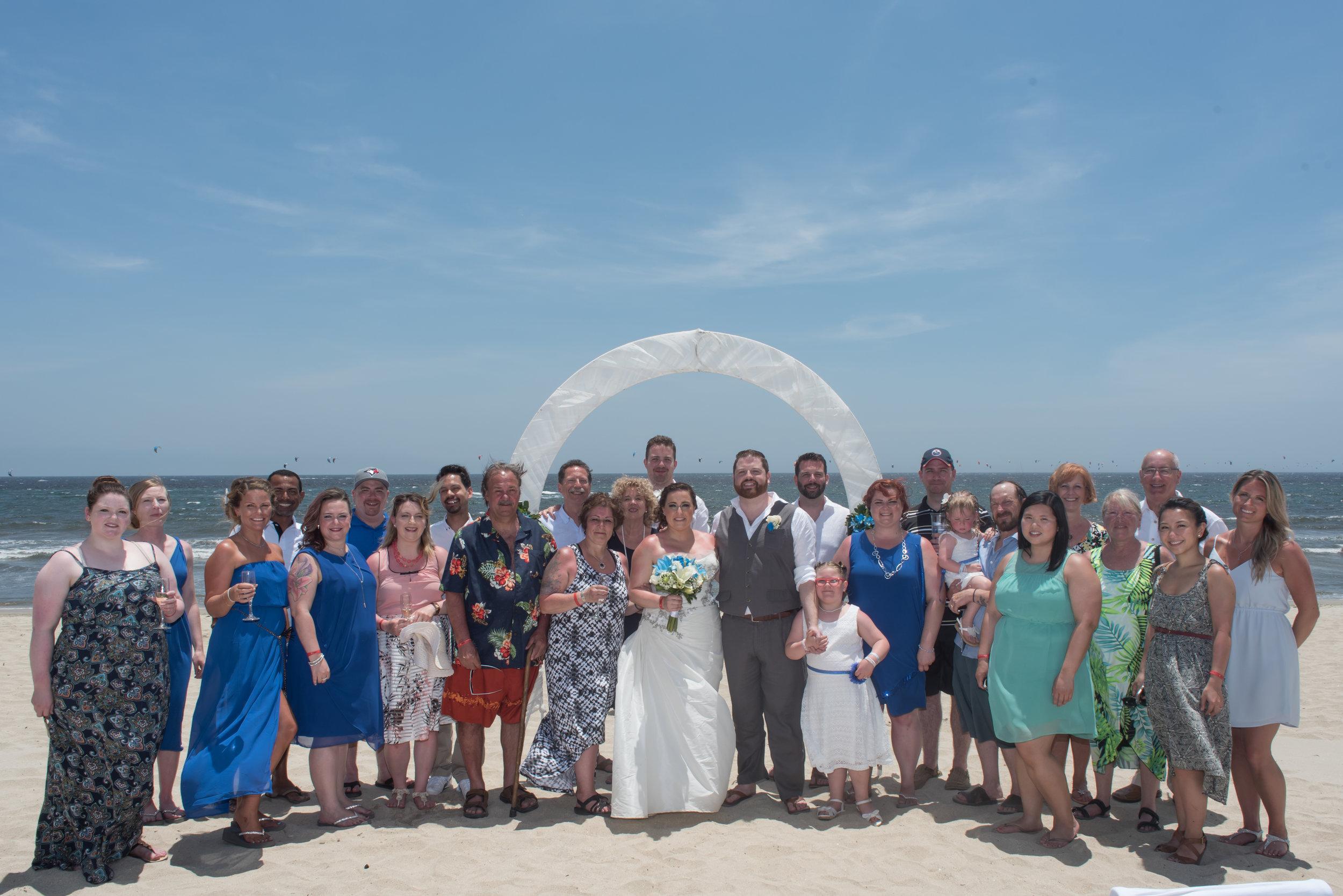 the whole wedding crew