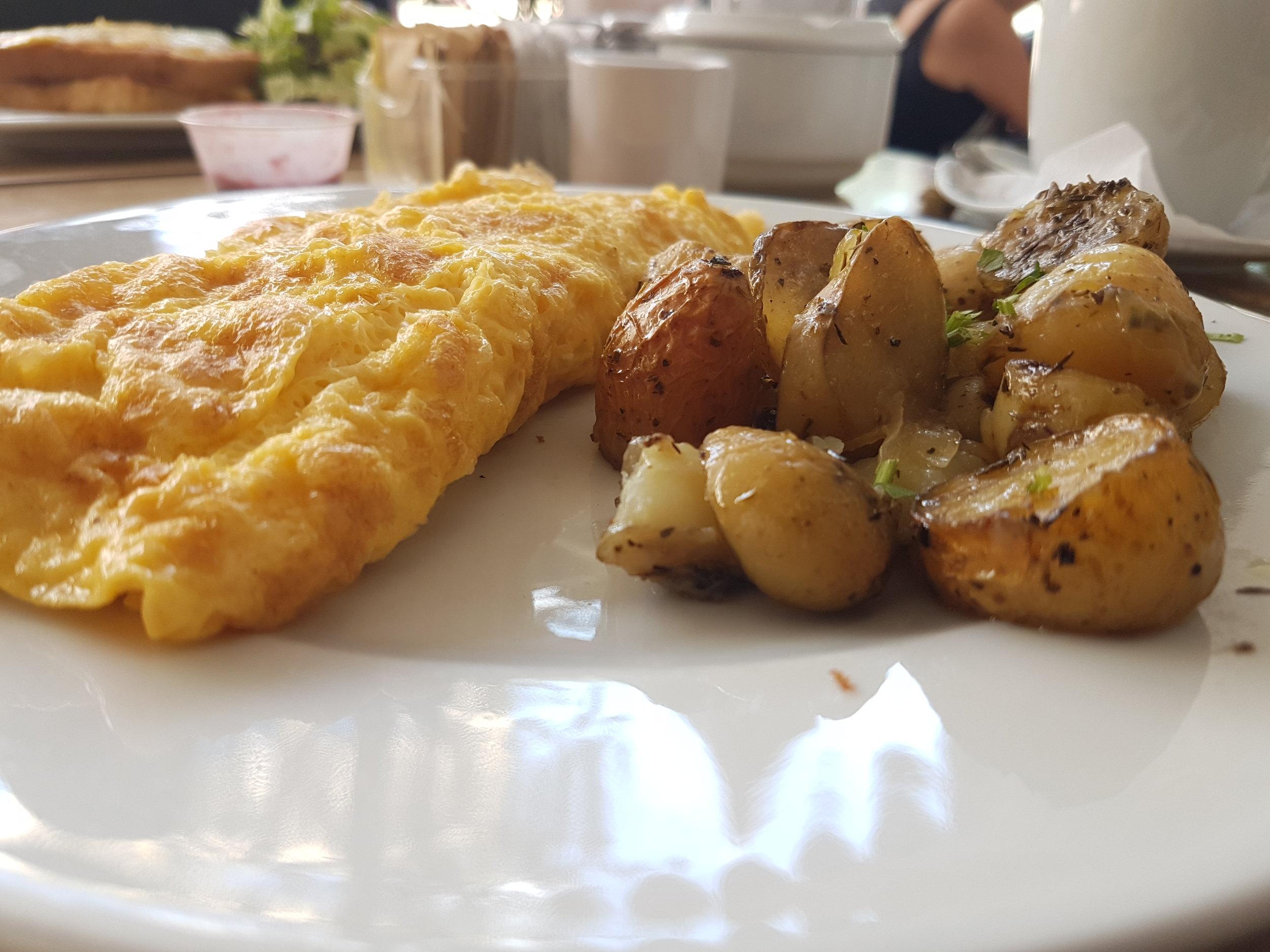Omelet for breakfast