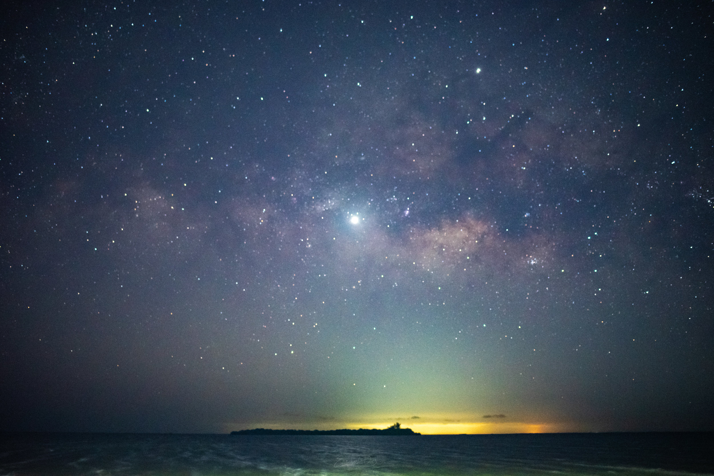 milky way view in Holbox island February 2019