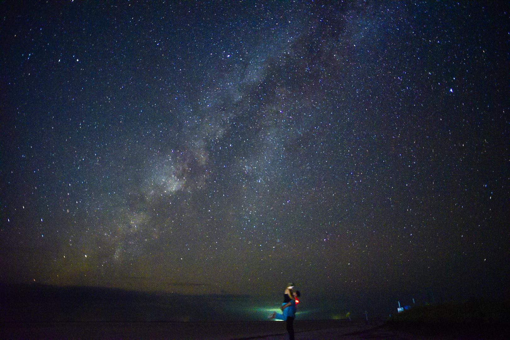 Milky Way couple's potrait