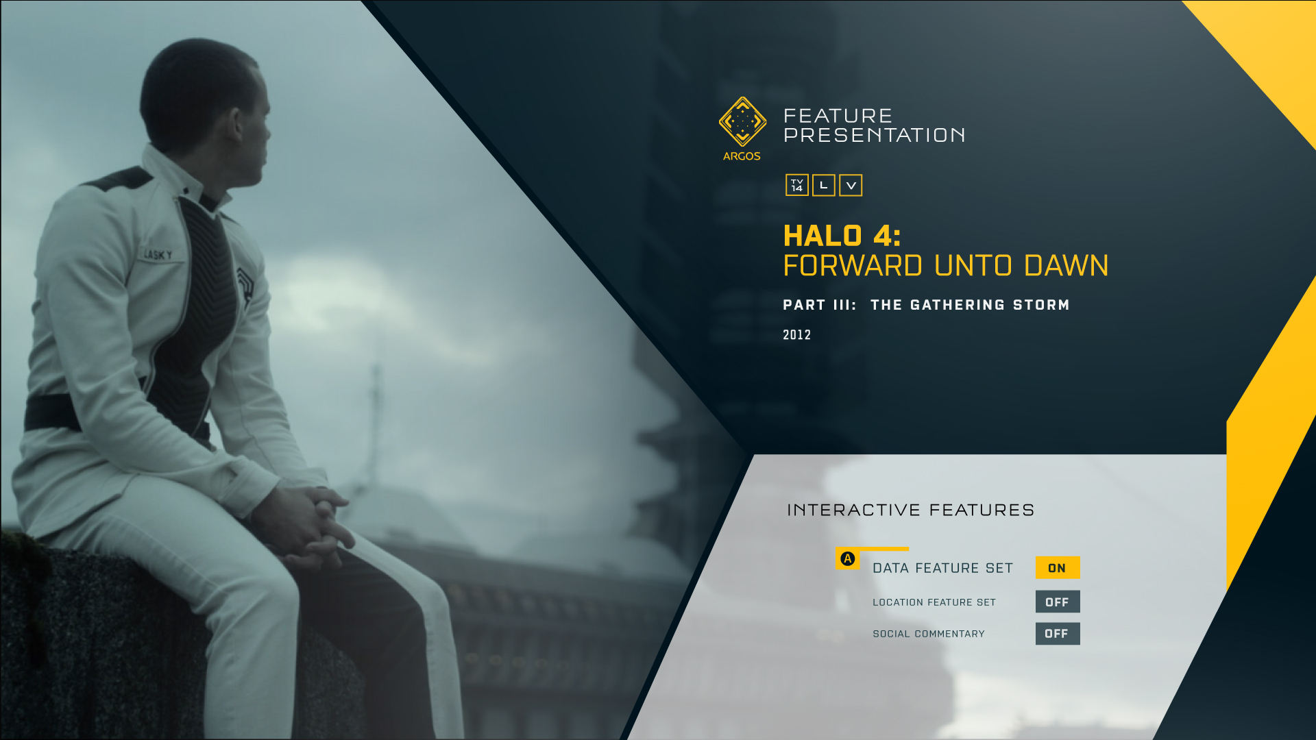 Early version of the  FEATURE PRESENTATION  screen.