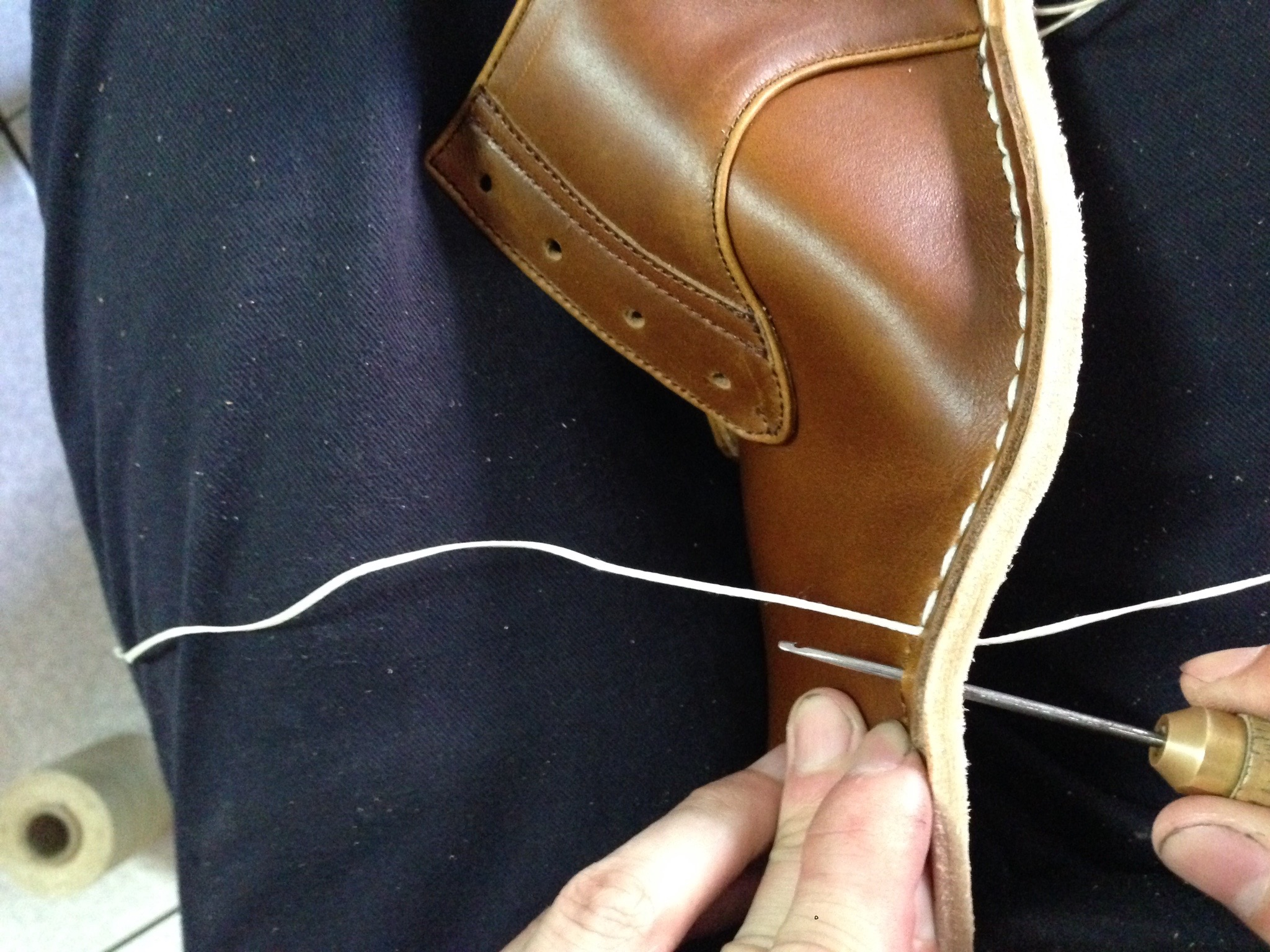 This process takes a lot of time to finish the upper and to show real craftmanships