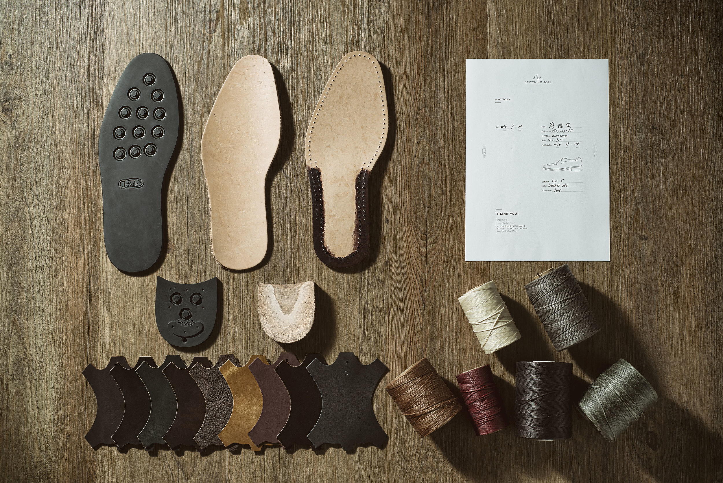 The choices of leathers, outsoles and the colors of wax line.
