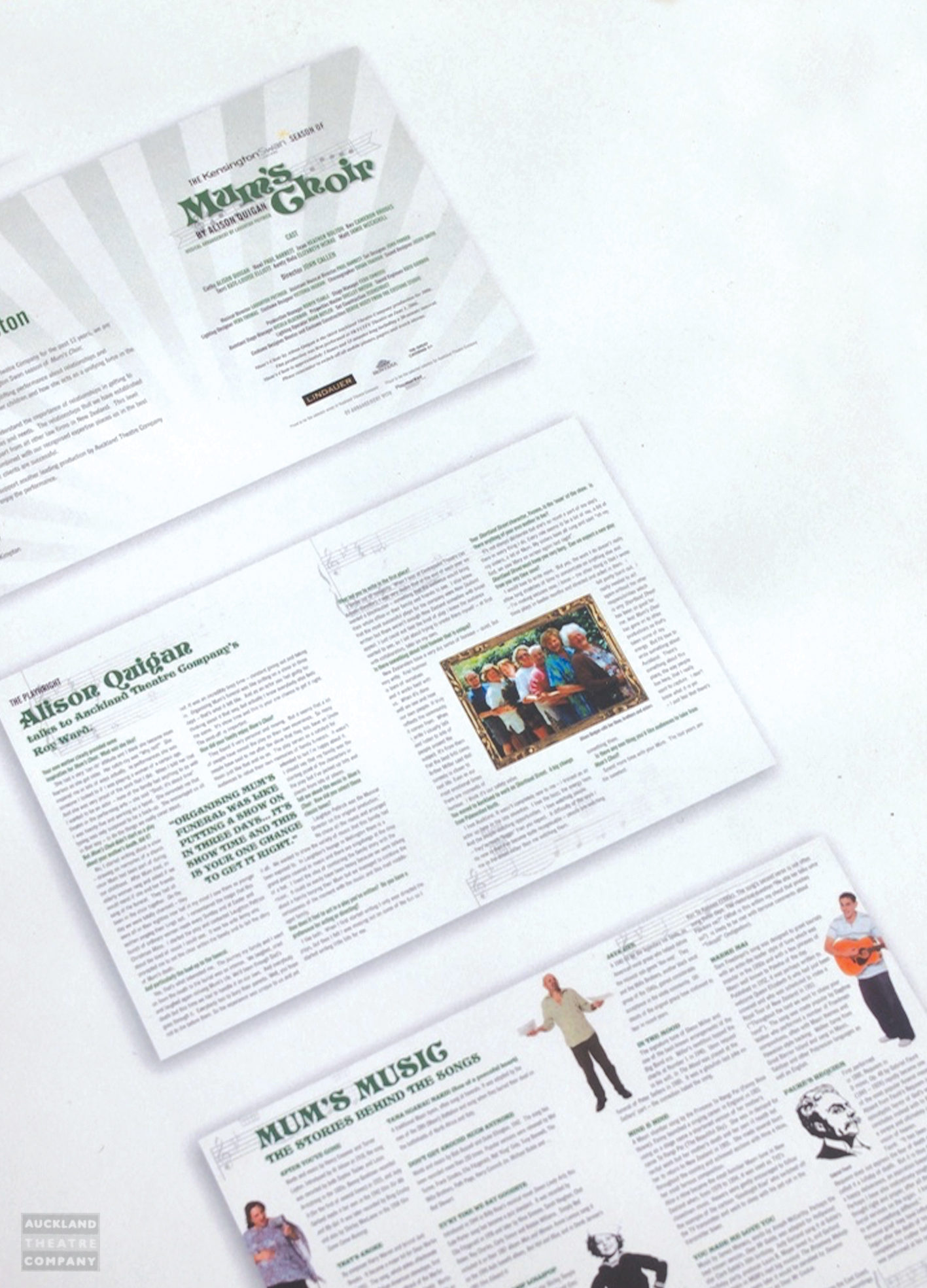 [Auckland Theatre Company] 2006 Design and layout of the Mum's Choir programme following the look and feel of the Mum's Choir concept.