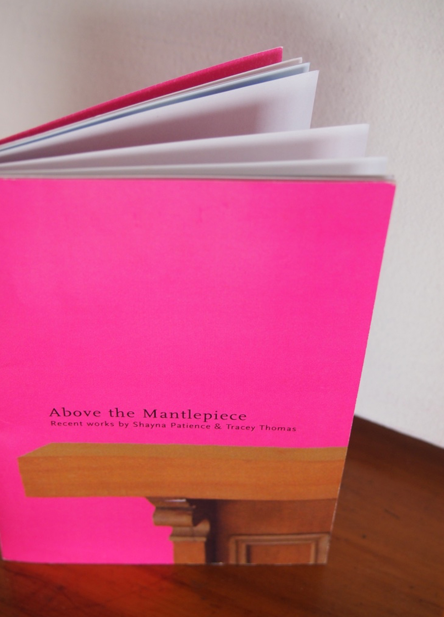 [Above the Mantlepiece] 2002 Exhibition Catalogue. Design and layout of the exhibition catalogue, following the look and feel of the concepts explored in the painters work.
