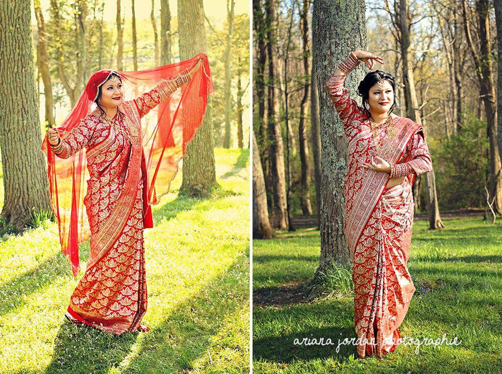 Her outfit is called a  Dupatta Sari .