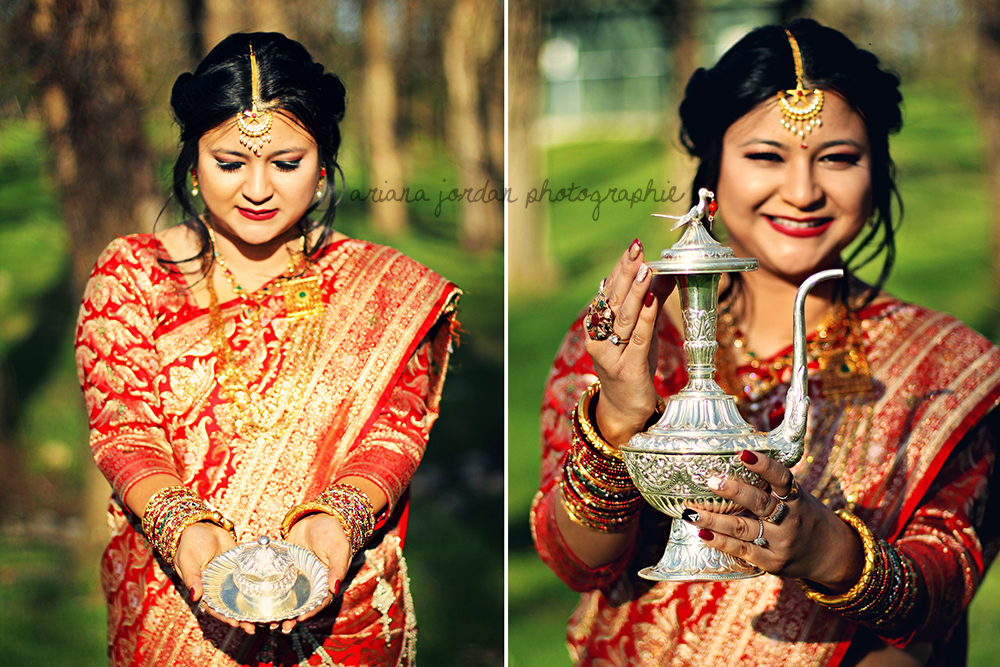 Traditional pieces of a Newari wedding:  Sindoor Dabba  &  Anti .