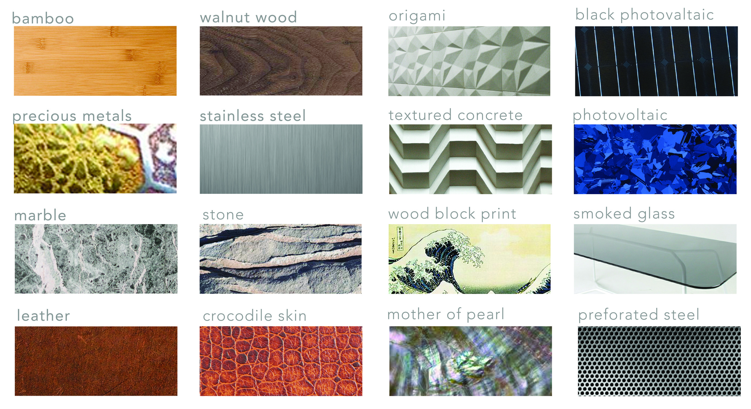 Initial material and pattern explorations allowed us to test what emotional connections users had to certain textures.
