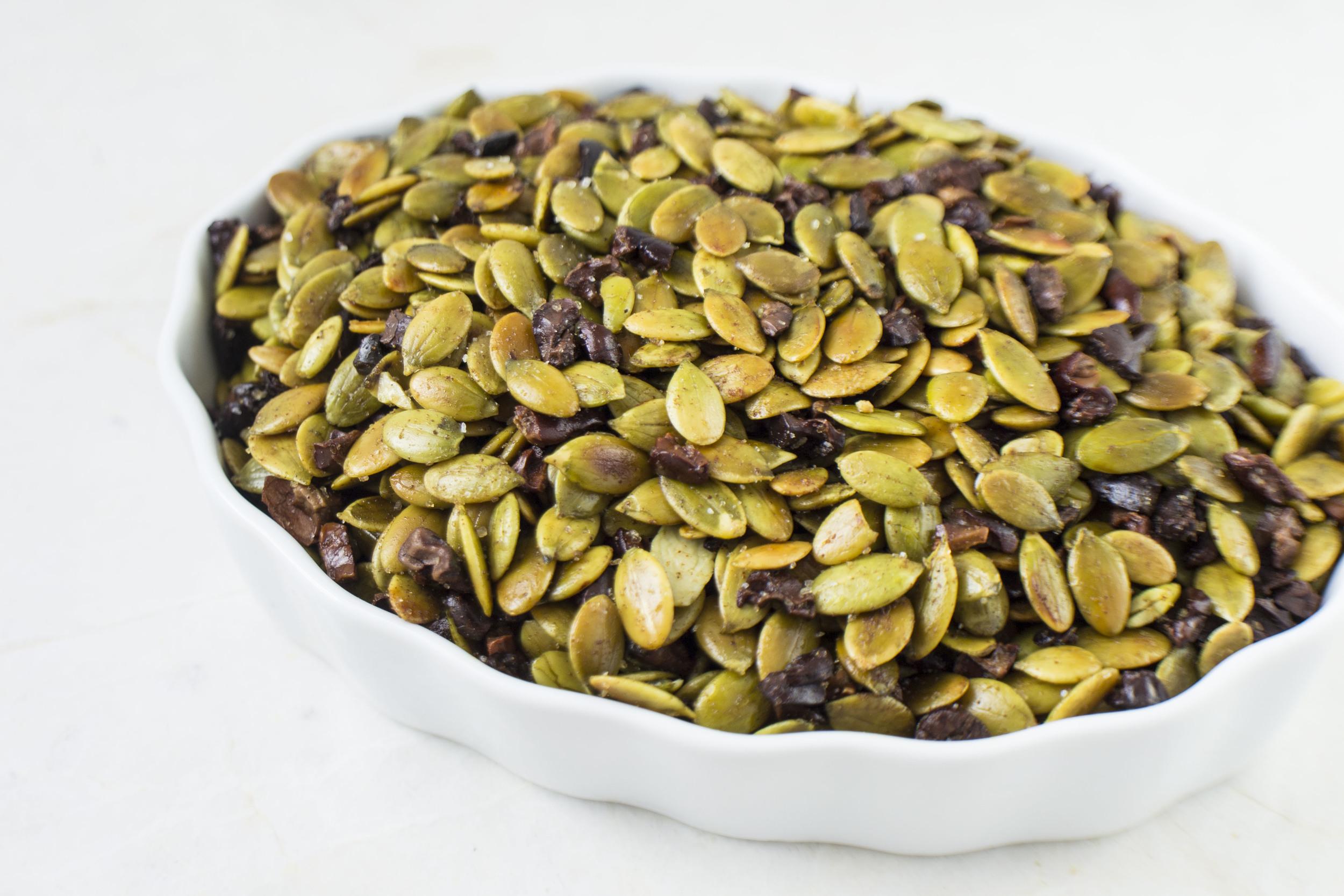 Sea Salted Pumpkin Seeds & Cacao Nibs