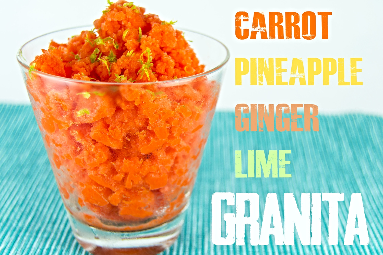 Carrot granita words