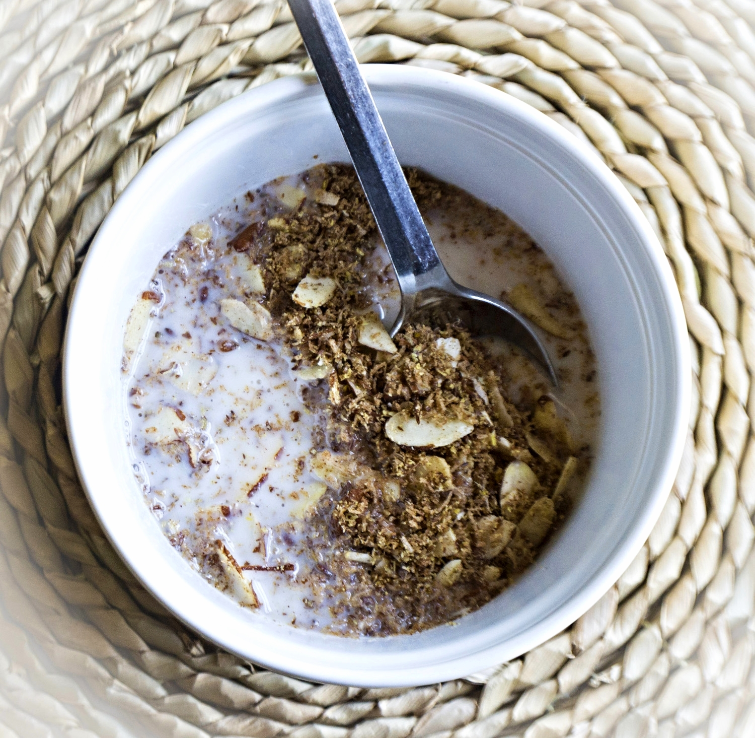 5 minute granola with milk