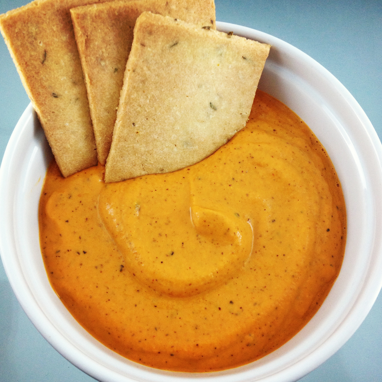 Vegan Cheesy Roasted Pepper Dip