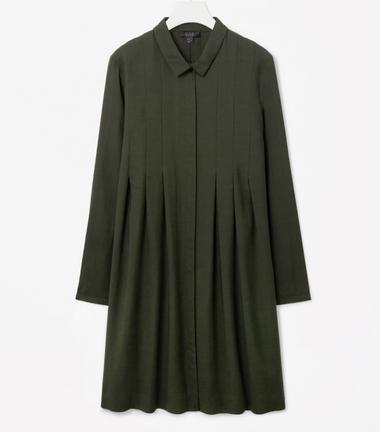 COS pleated shirt dress