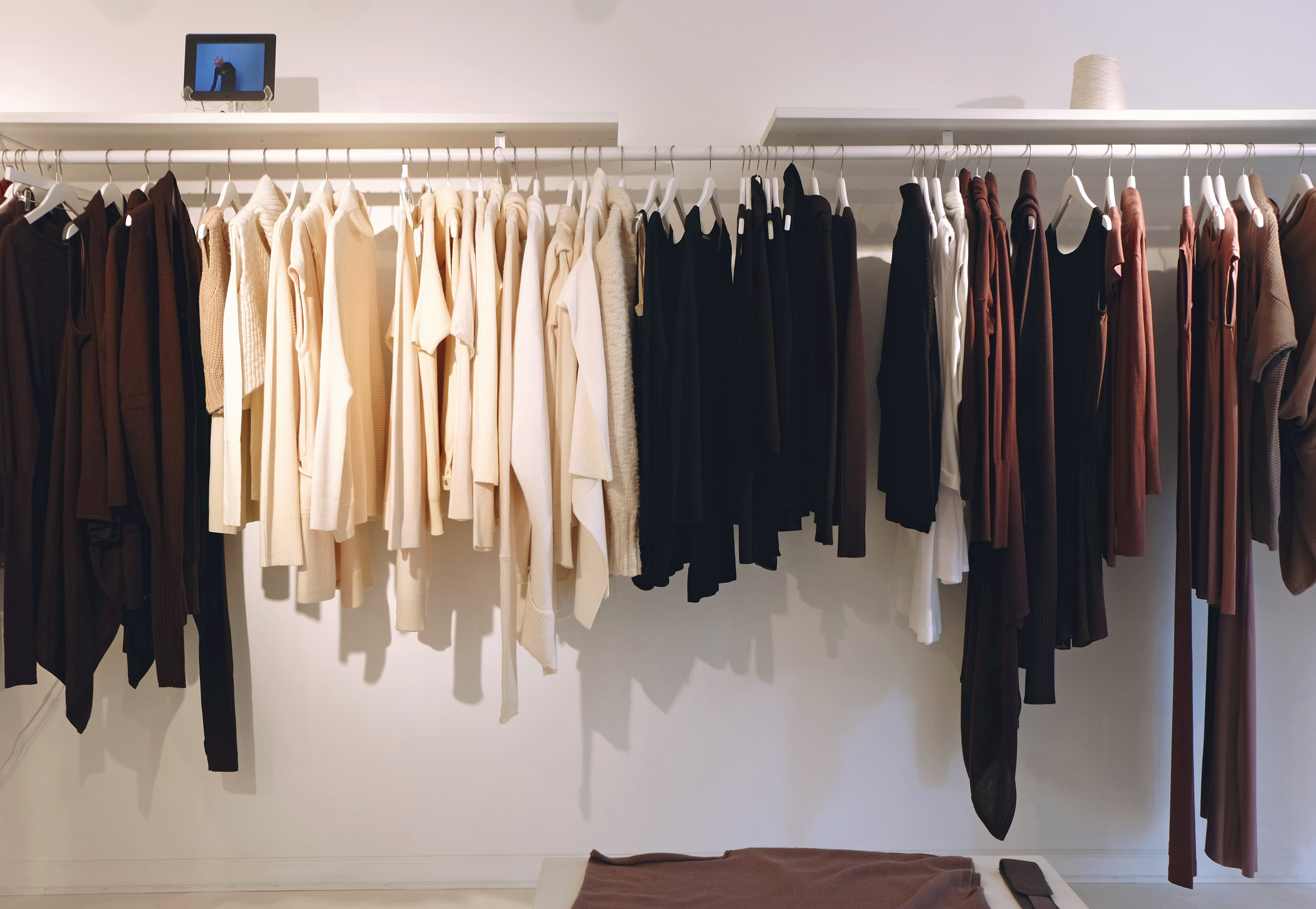 NFP studio  / 215 Mulberry Street. New York, NY 10012 / 212-775-8000  I only recently discovered this place.It's called  NFP for New Form & Perspective, a knitwear line where each garment can be worn multiple ways, ie. a sweater that turns into a skirt, or a vest, and so on.It's still fairly new, but an idea worth venturing into.